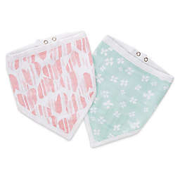 aden®  by aden + anais® Bandana Bibs, Briar Rose in Pink (2-Pack)