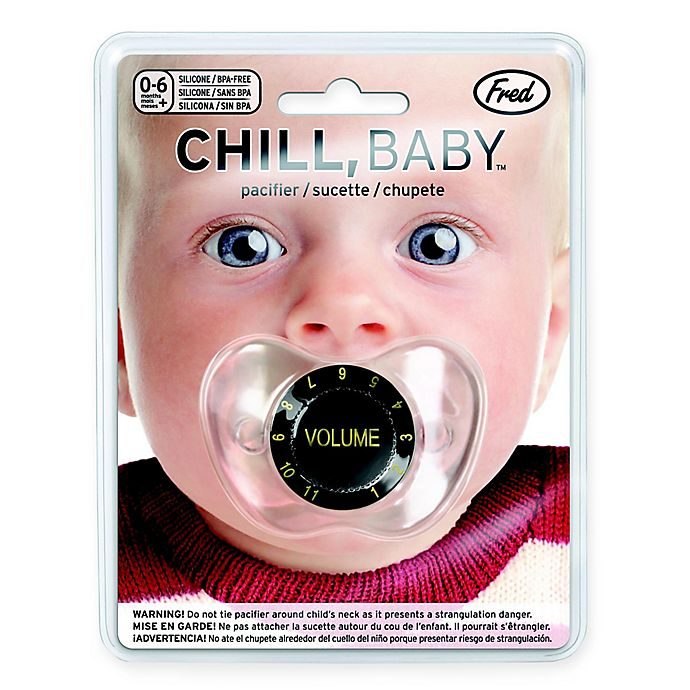 Alternate image 1 for Fred & Friends® Chill Baby Volume Pacifier in Black