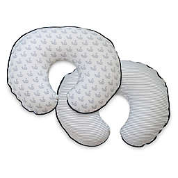 Boppy® Organic Cotton Nursing Pillow Cover in Gray Little Whales