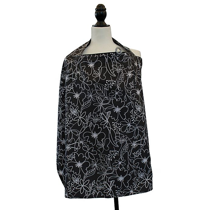 Alternate image 1 for Boppy® Nursing Cover in Black and White Scribbles
