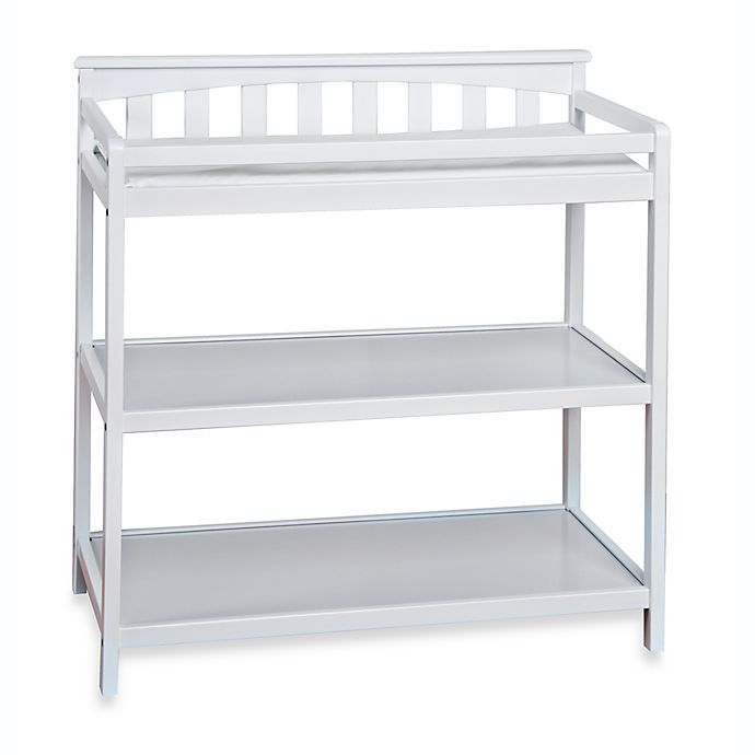 Alternate image 1 for Child Craft™ London Euro Flat Top Changing Table in Matte White