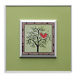 Tree with Pink Bird Wall Art