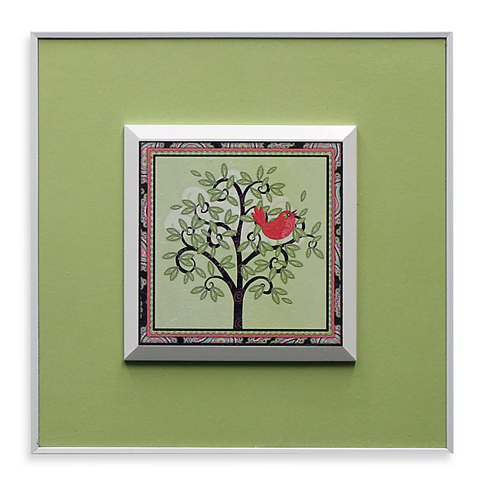 Alternate image 1 for Tree with Pink Bird Wall Art