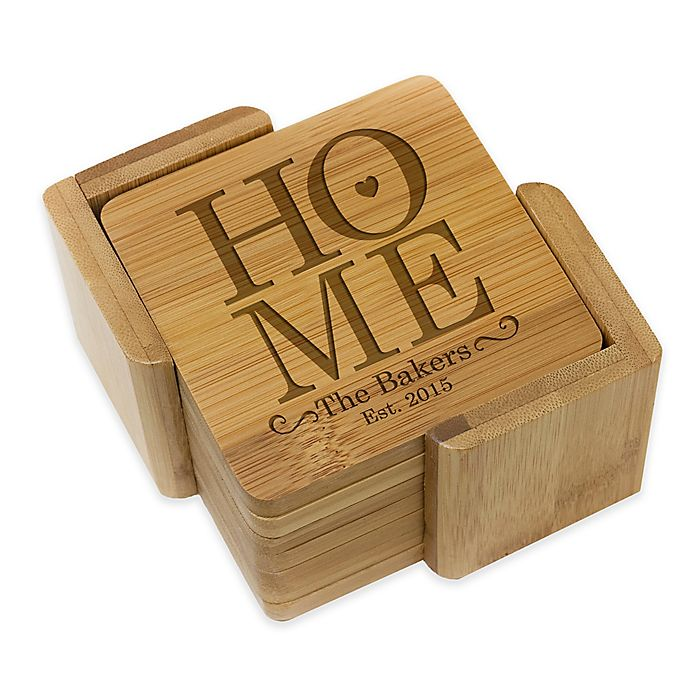 Alternate image 1 for Stamp Out Square Home Coasters (Set of 6)