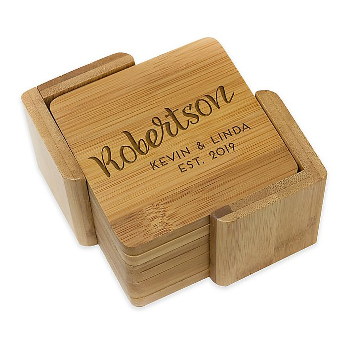 Alternate image 1 for Stamp Out Square Robertson Coasters (Set of 6)