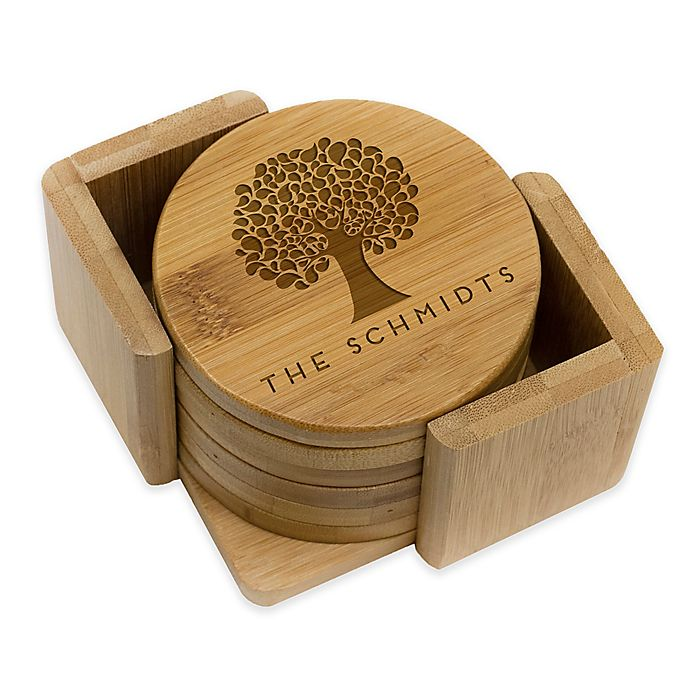 Alternate image 1 for Stamp Out Round Tree Coasters (Set of 6)