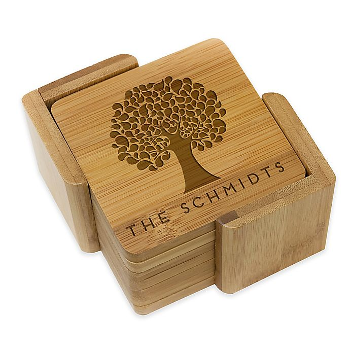 Alternate image 1 for Stamp Out Square Tree Coasters (Set of 6)