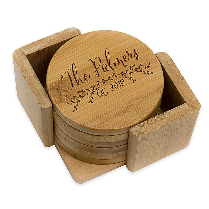 Alternate image 1 for Stamp Out Round Palmer Coasters (Set of 6)