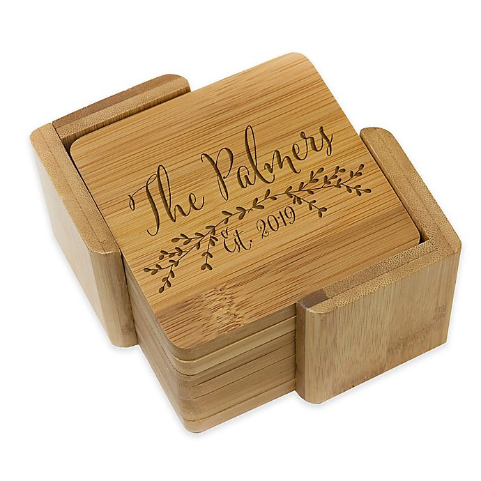 Alternate image 1 for Stamp Out Square Palmer Coasters (Set of 6)