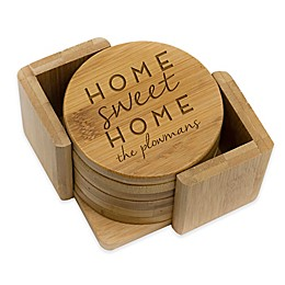 Stamp Out Round Home Sweet Home Coasters (Set of 6)