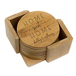 Stamp Out Round Rustic Home Sweet Home Coasters (Set of 6)