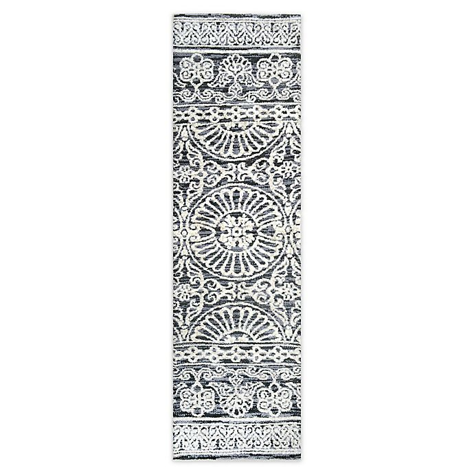 Alternate image 1 for Bee & Willow™ Home Ashby 2' x 7' Runner in Grey/Ivory