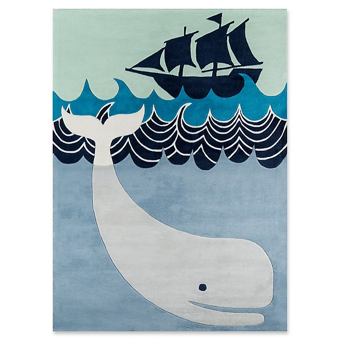 Alternate image 1 for Momeni Whale's Tail Hand-Tufted Rug in Blue