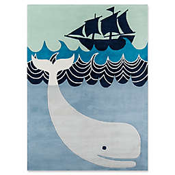 Momeni Whale's Tail Hand-Tufted Rug in Blue