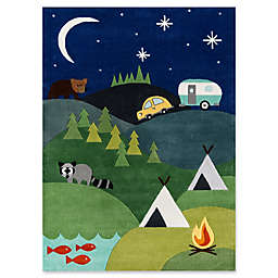 Momeni Camping Hand-Tufted Rug in Blue