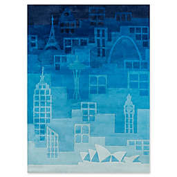 Momeni Urban Landscape Hand-Tufted Rug in Blue