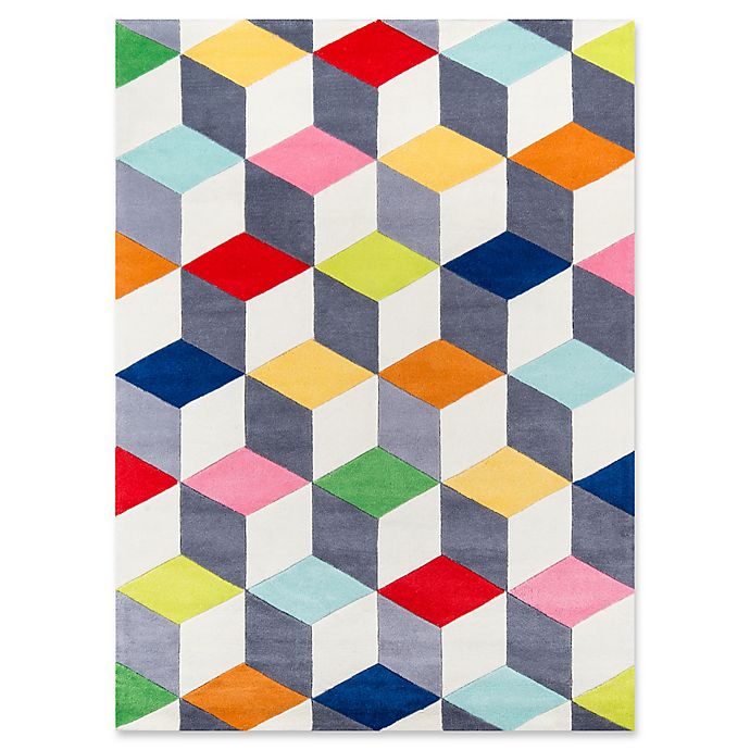 Alternate image 1 for Momeni Cubes Hand-Tufted Multicolored Rug in Multi