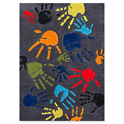 Momeni Finger Paint 8' x 10' Area Rug in Grey