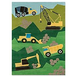 Momeni Construction Rug in Green