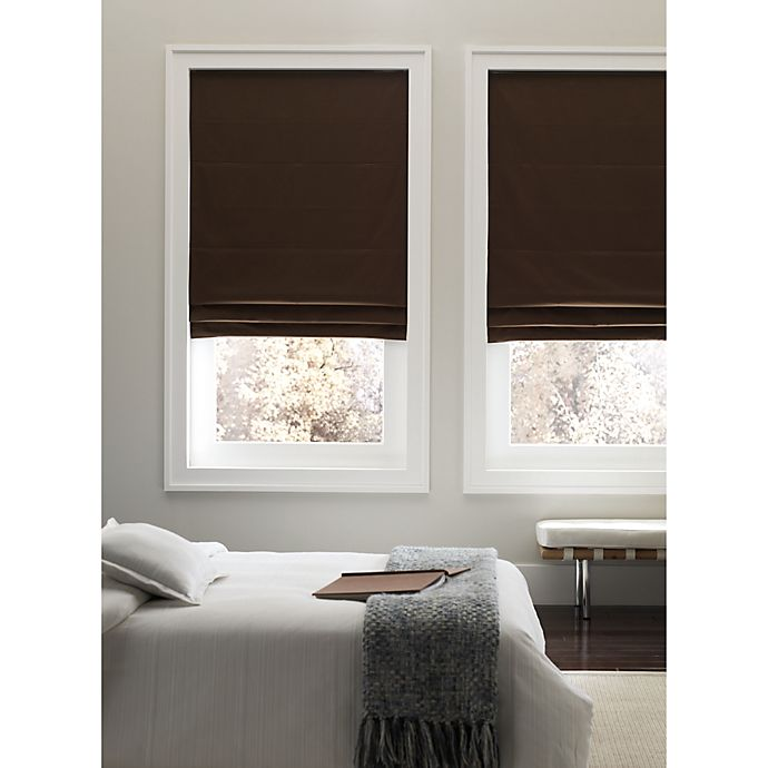 View A Larger Version Of This Product Image Click To Zoom Alternate 1 For Real Simple Cordless 29 Inch Fabric Roman Shade