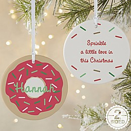2-Sided Matte Donut Fun Personalized Ornament- Large
