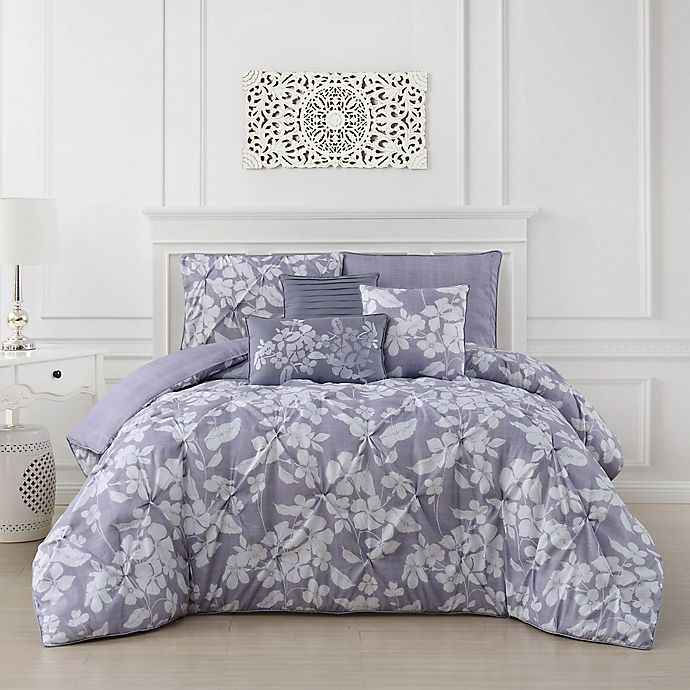 Alternate image 1 for Jacqueline 6-Piece Reversible Full/Queen Comforter Set in Orchid