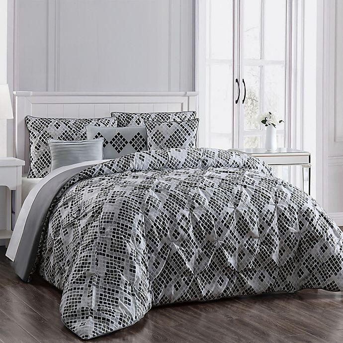 Alternate image 1 for Germaine 6-Piece Reversible Full/Queen Comforter Set in Grey