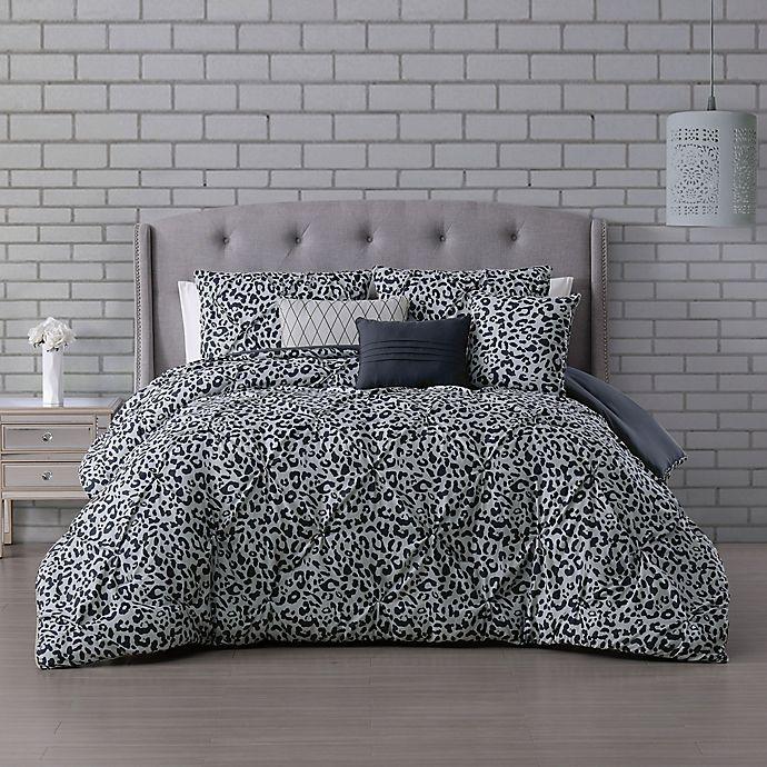 Alternate image 1 for Corinna 6-Piece Reversible Full/Queen Comforter Set in Light Grey
