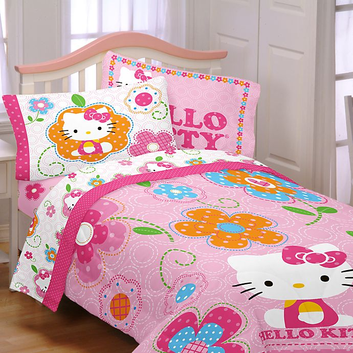Wonderbaarlijk Hello Kitty Twin Comforter Set | Bed Bath & Beyond ZB-68