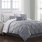 Bergen 7-Piece Reversible Full/Queen Comforter Set in Grey