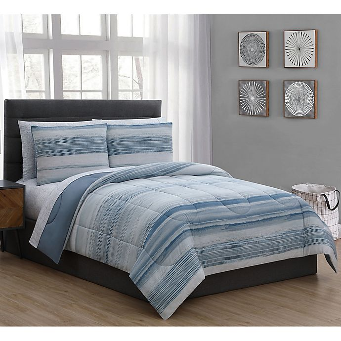 Alternate image 1 for Laken 5-Piece Twin Comforter Set in Blue