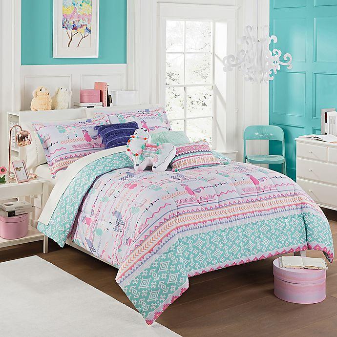 Alternate image 1 for Waverly Kids La La Llama Reversible Comforter Set