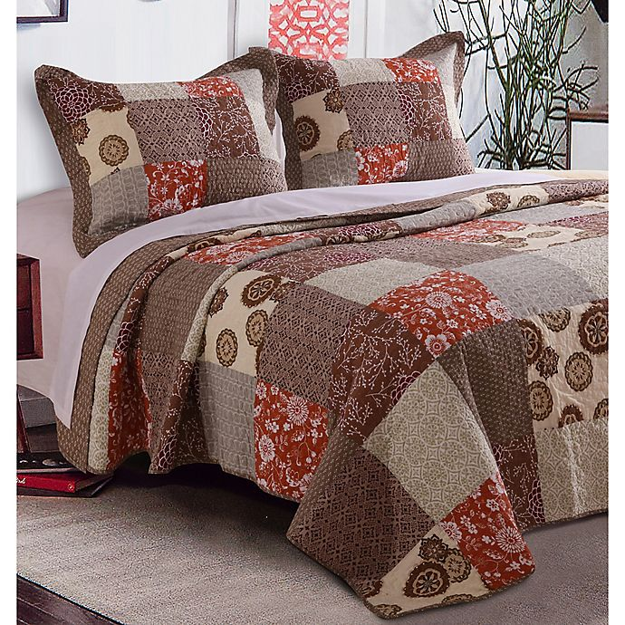 Alternate image 1 for Stella Full/Queen Quilt Set in Natural