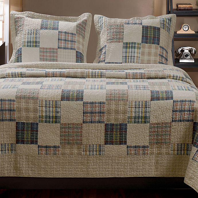 Alternate image 1 for Oxford Reversible Twin Quilt Set in Natural