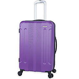 Traveler's Club® Voyager 24-Inch Hardside Spinner Checked Luggage in Purple
