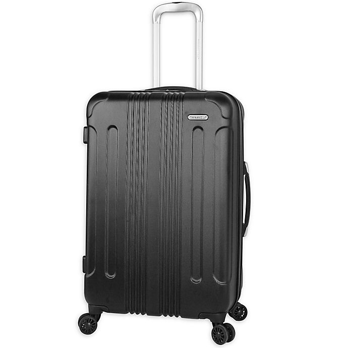 Alternate image 1 for Traveler's Club® Voyager 24-Inch Hardside Spinner Checked Luggage in Black