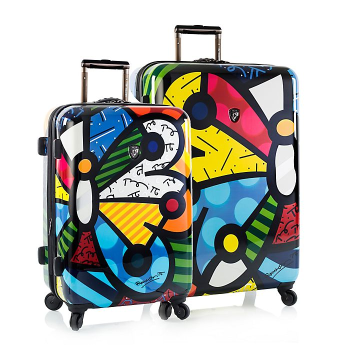 Alternate image 1 for Heys® Britto Butterfly Hardside Spinner Checked Luggage