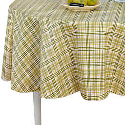 Homestead Plaid 70-Inch Round Tablecloth in Green