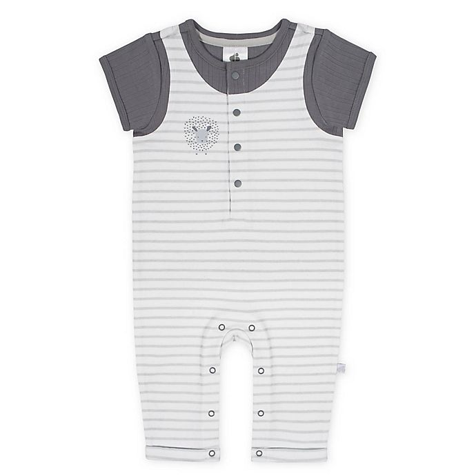 Alternate image 1 for Just Born® Counting Sheep Coverall in Grey