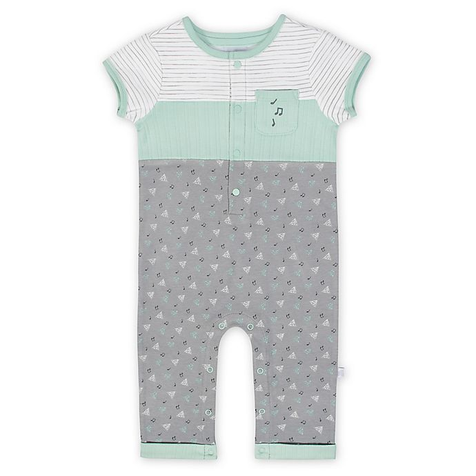 Alternate image 1 for Just Born® Whistle Coverall in Mint
