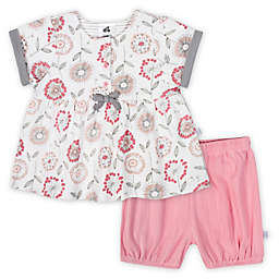 Just Born® 2-Piece Dandelion Top and Short Set in Pink