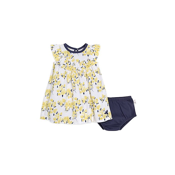 156027e826f Burt s Bees Baby® 2-Piece Watercolor Tulips Dress and Panty Set in Yellow