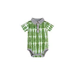 Burt's Bees Baby® Tie-Dye Polo Bodysuit in Green