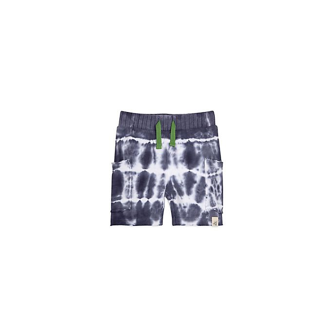 Alternate image 1 for Burt's Bees Baby® French Terry Tie Die Short in Navy