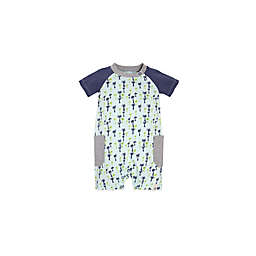 Burt's Bees Baby® Breezy Palms Raglan Shortall in Green