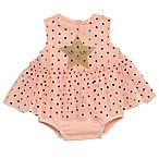 Baby Starters® Size 3M Star Skirted Bodysuit in Pink