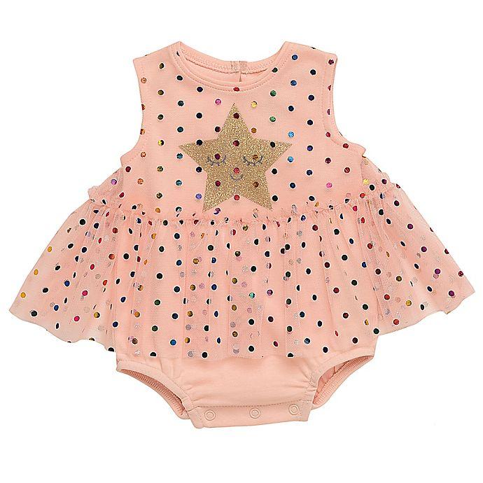 Alternate image 1 for Baby Starters® Star Skirted Bodysuit in Pink