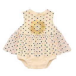 Baby Starters® Polka Dot Skirted Bodysuit in White