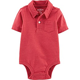 OshKosh B'gosh® Polo Bodysuit in Orange