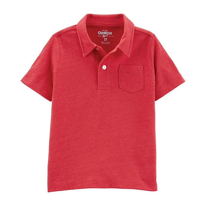 Alternate image 1 for OshKosh B'gosh® Size 2T Polo Shirt in Orange
